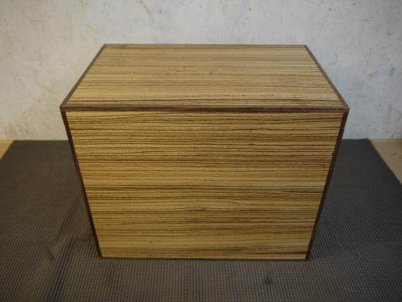 Zebrano Veneered Storage Case