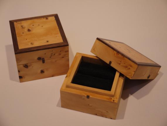 Picture of Huon Pine Ring Boxes