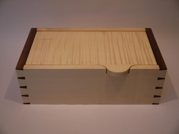 Sycamore and Black Walnut Desk Box