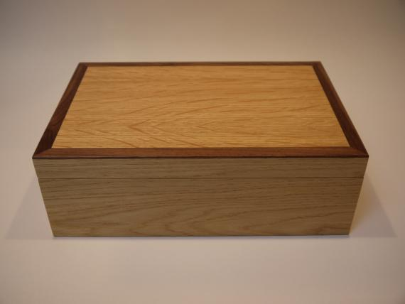 Oak Jewellery Box with Black Walnut Trim
