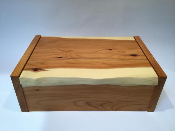 Solid Yew Desk Box