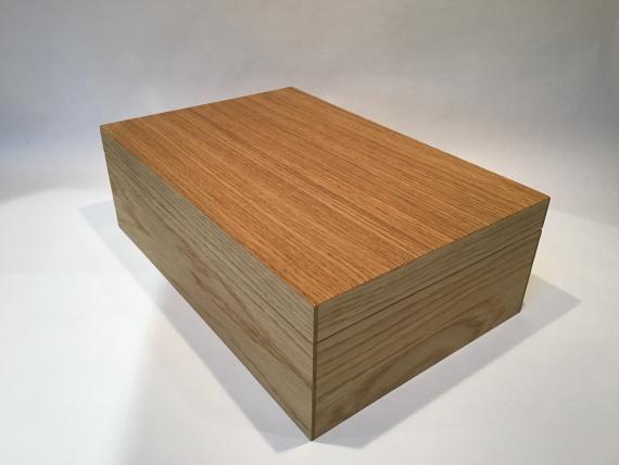 Plain Oak Jewellery Box