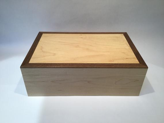 Maple Jewellery Box with Black Walnut trim