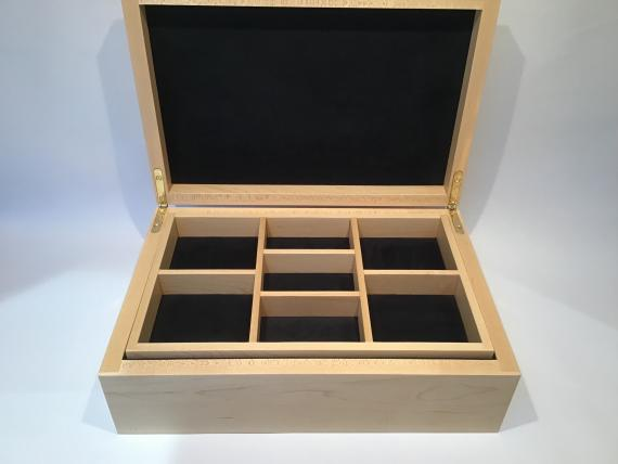 Picture of Maple Jewellery Box with Black Walnut trim