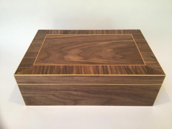 American Black Walnut Veneered Jewellery Box