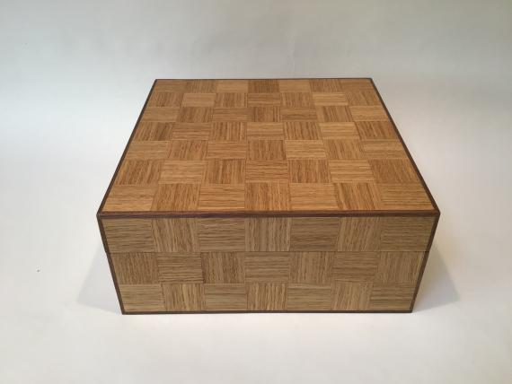 Chequered Oak Keepsake Box