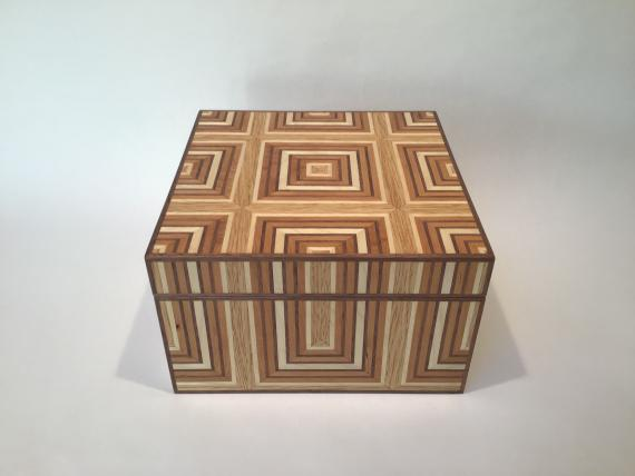 Veneered Geometrical Keepsake Box