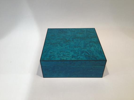 Blue Birds Eye Maple Keepsake Box