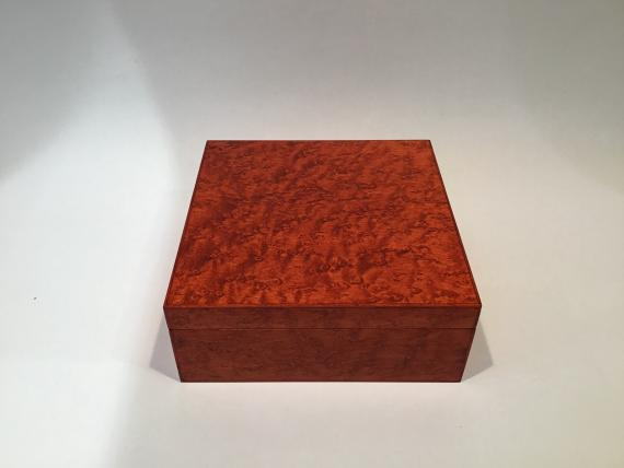 Orange Birds Eye Maple Keepsake Box